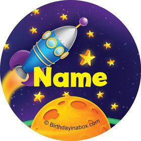 Space Personalized Mini Stickers (Sheet of 24)
