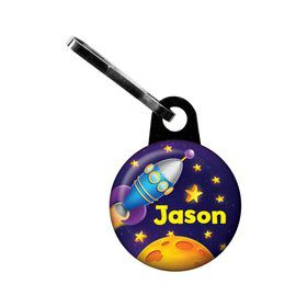 Space Personalized Mini Zipper Pull (each)