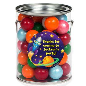 Space Personalized Paint Can Favor Container (6 Pack)