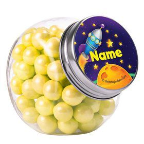 Space Personalized Plain Glass Jars (10 Count)