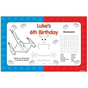 Space Toys Personalized Activity Mats (8-pack)