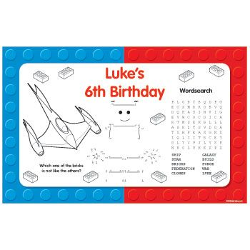 Space Toys Personalized Activity Mats (8-pack) - Party Supplies BB020720