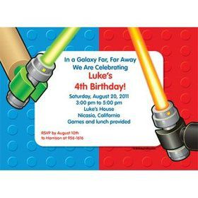 Space Toys Personalized Invitation (each)