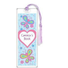 Sparkle Butterfly Personalized Bookmark (each)