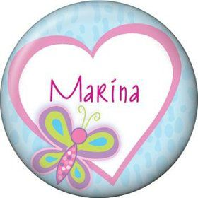 Sparkle Butterfly Personalized Mini Button (each)
