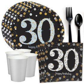 Sparkling Celebration 30th Birthday Standard Tableware Kit (Serves 8)