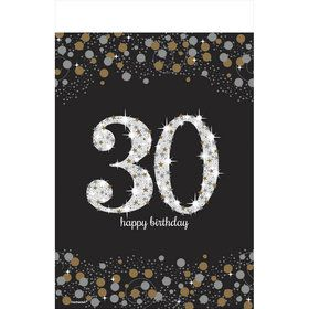 Sparkling Celebration 30th Birthday Table Cover (1)
