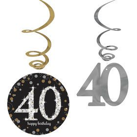 Sparkling Celebration 40th Birthday Swirl Decorations (12)