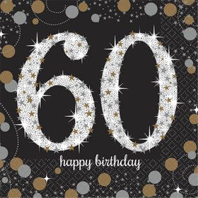 Sparkling Celebration 60th Birthday Beverage Napkins (16)