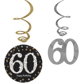 Sparkling Celebration 60th Birthday Swirl Decorations (12)