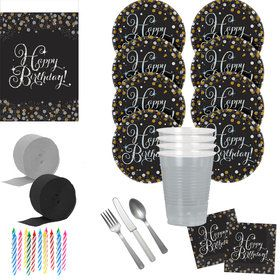 Sparkling Celebration Deluxe Tableware Kit (Serves 40)