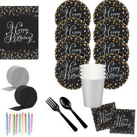 Sparkling Celebration Deluxe Tableware Kit (Serves 8)