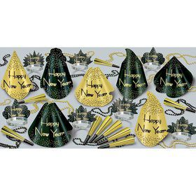 Sparkling Gold New Year's Party Kit (For 50 People)