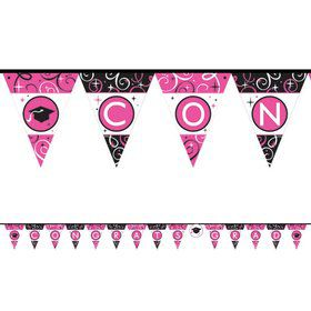 Sparkling Grad 12 1/2ft. Pennant Banner Decoration (Each)
