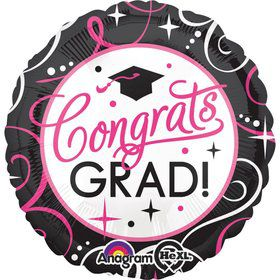 "Sparkling Grad 18"" Balloon (Each)"