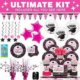 Sparkling Grad Party Ultimate Tableware Kit Serves 18
