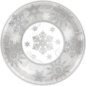 "Sparkling Snowflake 12"" Plates (8 Pack)"