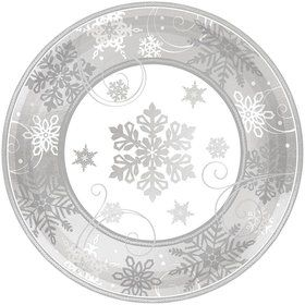 "Sparkling Snowflake 7"" Plates (8 Pack)"