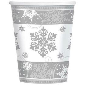 Sparkling Snowflake 9oz Cups (8 Pack)