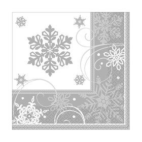 Sparkling Snowflake Lunch Napkins (16 Pack)