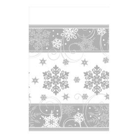 Sparkling Snowflake Paper Tablecover (Each)