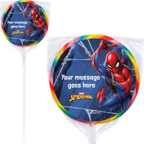 "Spider-Man Personalized 3"" Lollipops (12 Pack)"