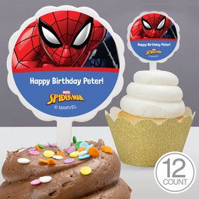 Spider-Man Personalized Cupcake Picks (12 Count)
