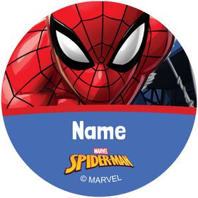 Spider-Man Personalized Mini Stickers (Sheet of 24)