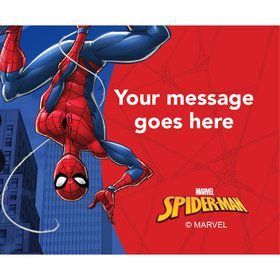 Spider-Man Personalized Rectangular Stickers (Sheet of 15)