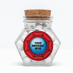 """Spider Personalized 3"""" Glass Hexagon Jars (Set of 12)"""