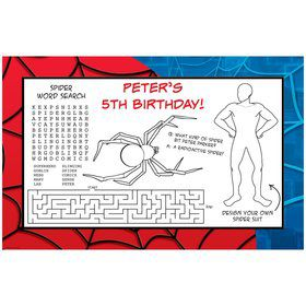 Spider Personalized Activity Mats (8-pack)