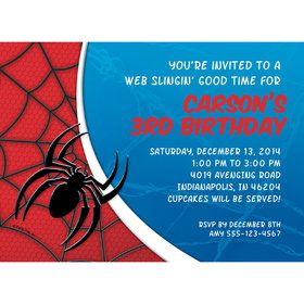Spider Personalized Invitation (Each)