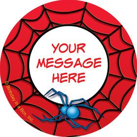 Spider Personalized Mini Stickers (Sheet of 20)