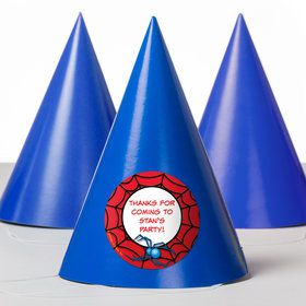 Spider Personalized Party Hats (8 Count)