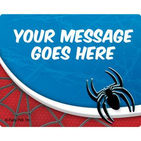 Spider Personalized Rectangular Stickers (Sheet of 15)