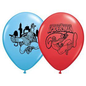 "Spiderman 12"" Latex Balloons (6 Pack)"