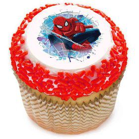 "Spiderman 2"" Edible Cupcake Topper (12 Images)"
