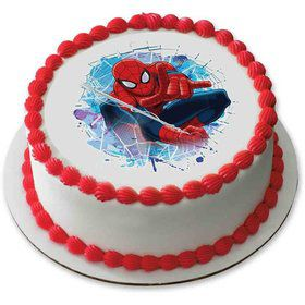 "Spiderman 7.5"" Round Edible Cake Topper (Each)"