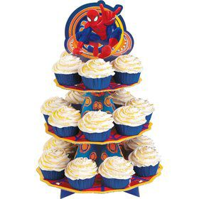 Spiderman Cupcake and Treat Stand (Each)