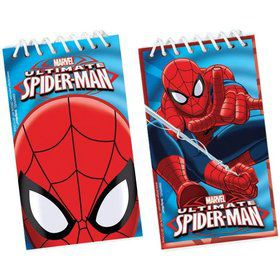 Spiderman Notepad Favors (12 Pack)