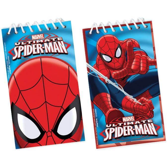 Spider-Man Notepad Favors (12 Pack) - Party Supplies BB393376