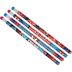 Spiderman Pencil Favors (12 Pack)