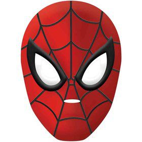 Spiderman Plastic Mask (Each)