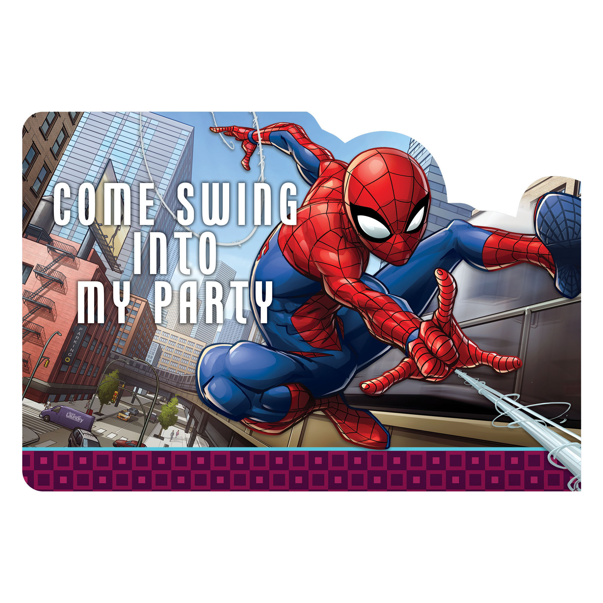 Spiderman Postcard Invitation (8 Pack) BB481355