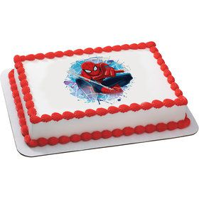 Spiderman Quarter Sheet Edible Cake Topper (Each)