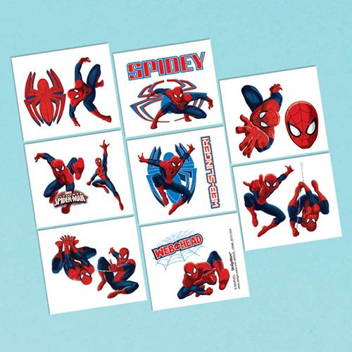 Spiderman Tattoo Favors (16 Pack) - Party Supplies BB393325