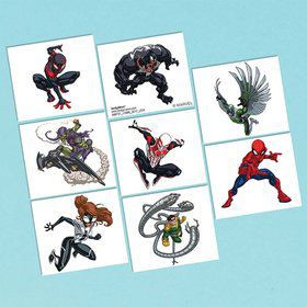 Spiderman Tattoo Favors