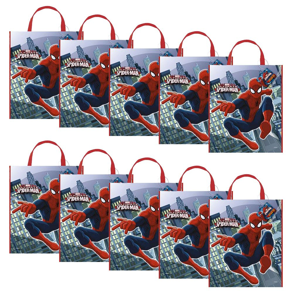 Spiderman Tote Bag (Set Of 10) - Party Supplies BB46388SET