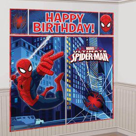 Spiderman Wall Decorating Kit (Each)