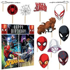 Spiderman Wall Decorating Kit With Photo Props